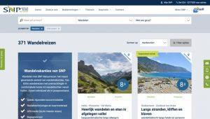 SNP Natuurreizen website