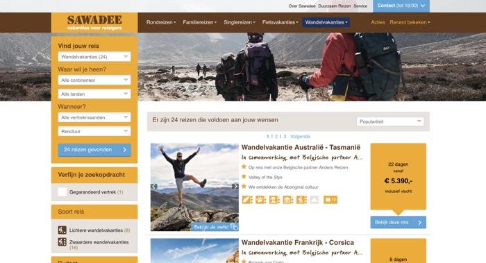 sawadee wandelen website