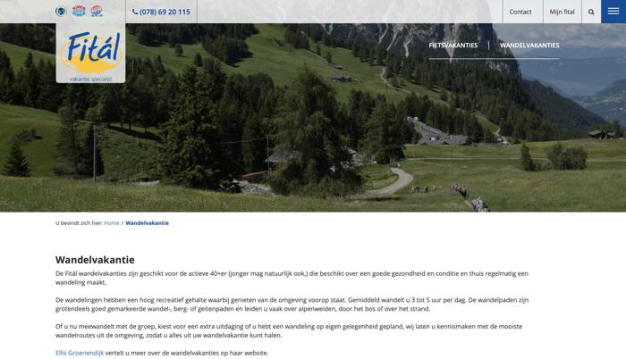fital wandelen website