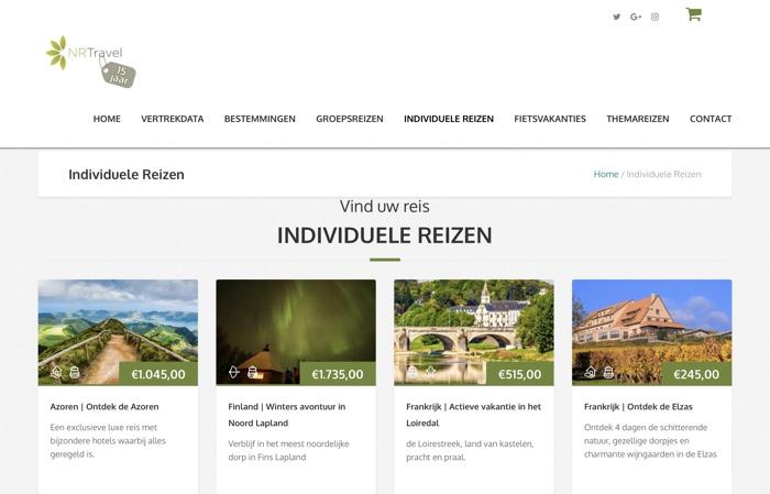 website natuurlijkreizen.nl