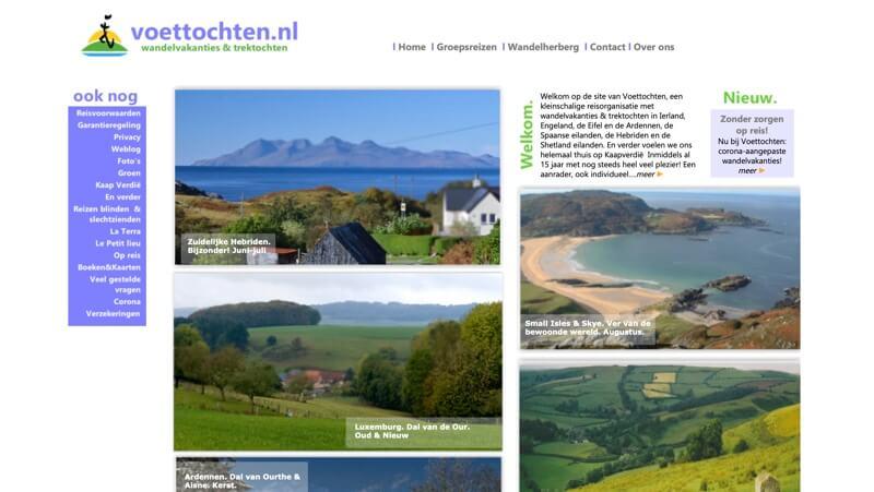 voettochten website