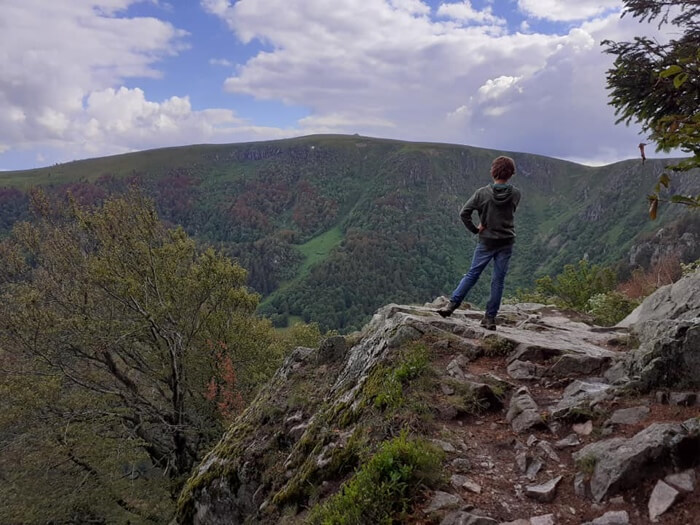 uitzicht op de Hohneck Vogezen