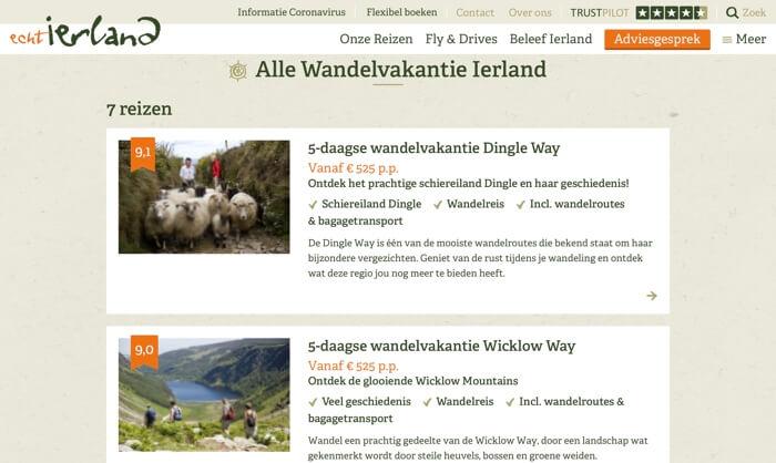 Echt Ierland website