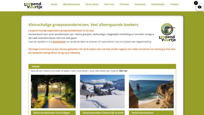 afbeelding website LoopendVuurtje.nl