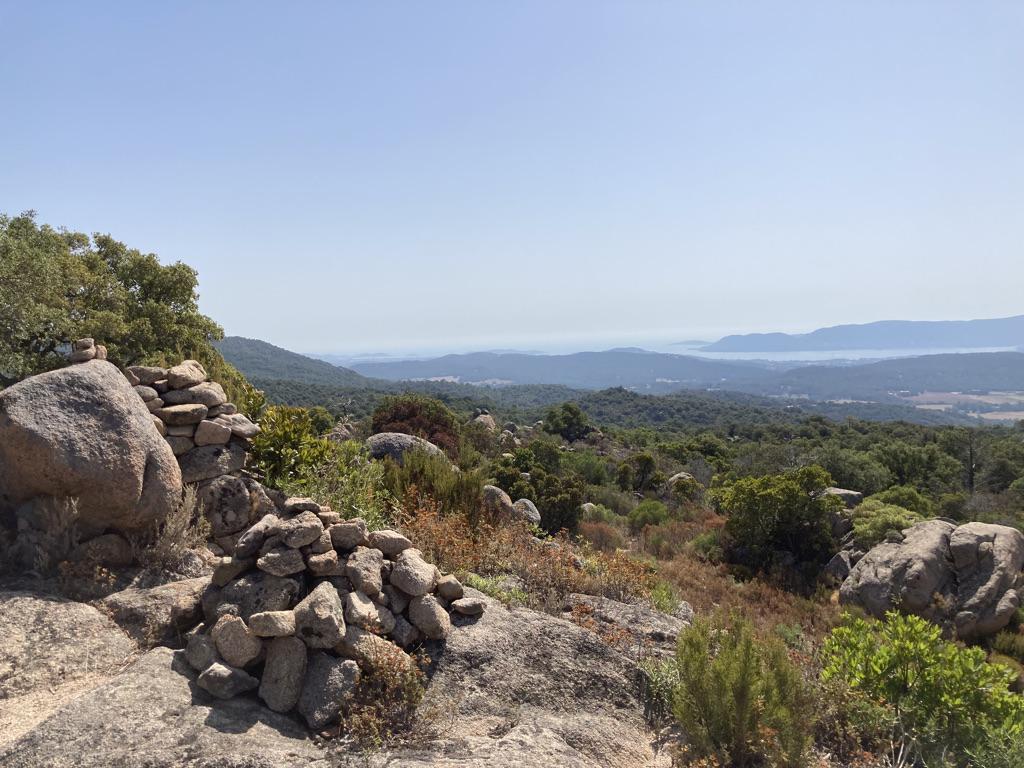 Uitzicht wandelen op Corsica