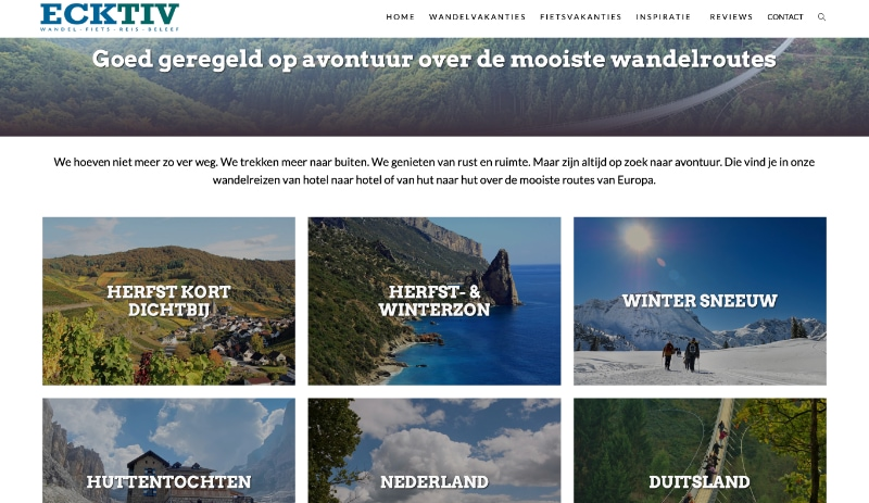 Ecktiv Wandelen Website