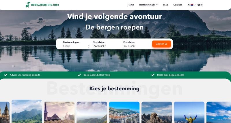 book a trekking website
