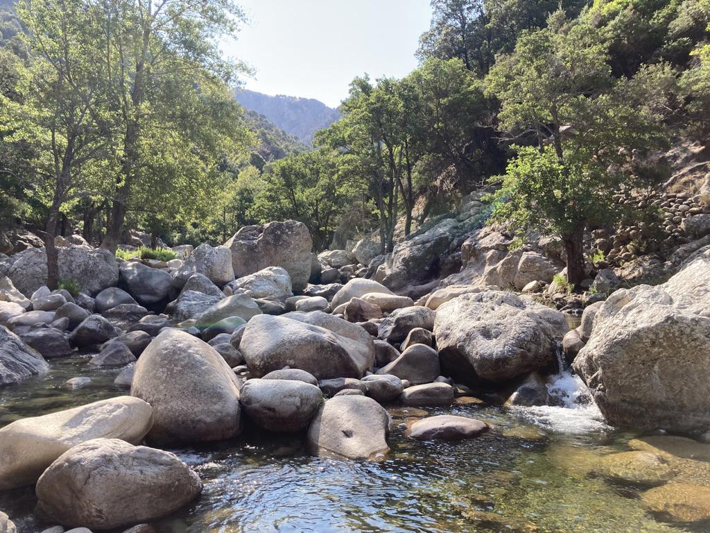 verkoelende rivier Corsica