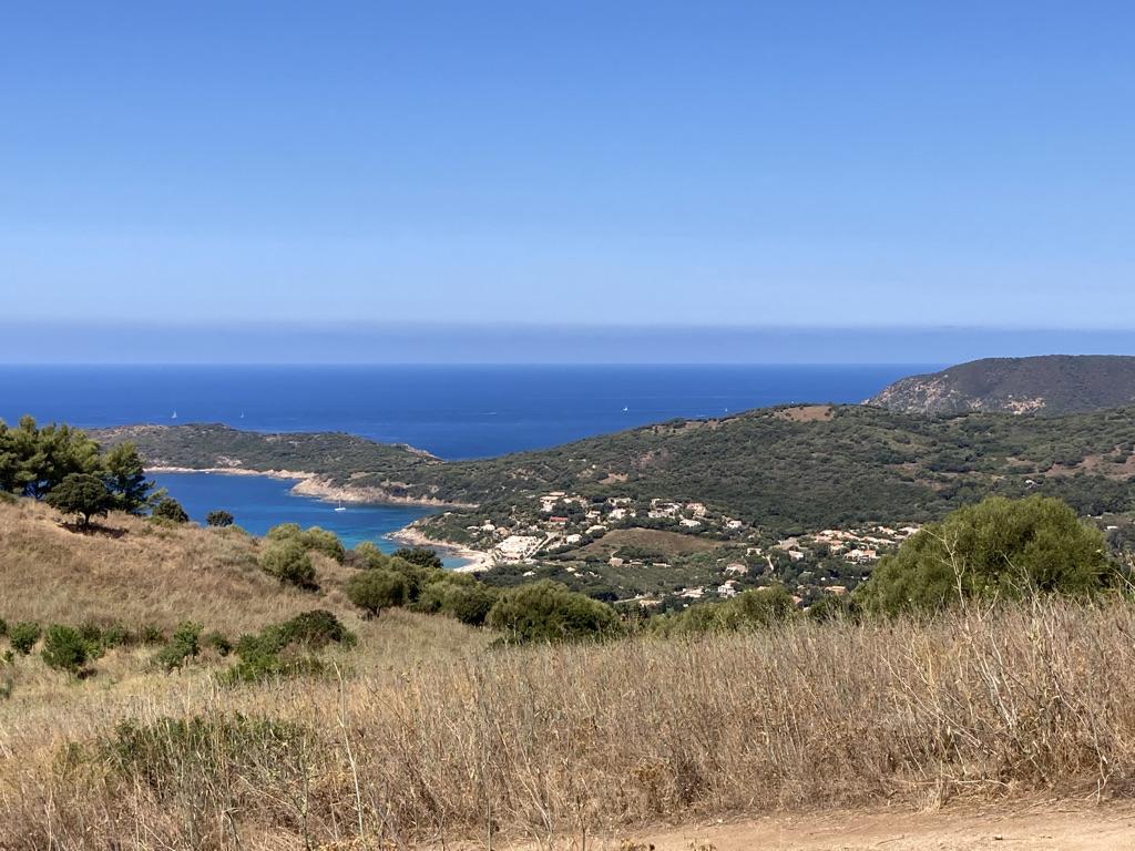 Uitzicht op zee Corsica