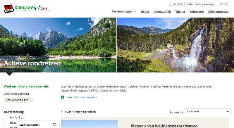 ACSI Reizen website