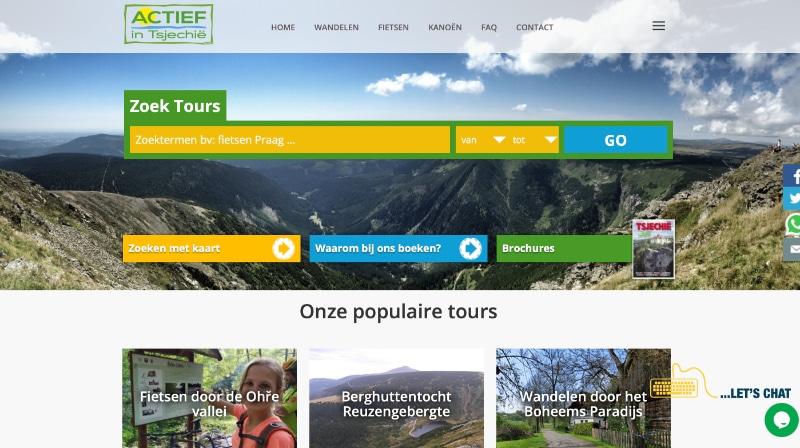 website van actief in Tsjechië